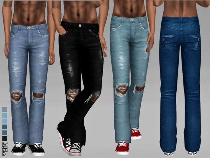 -some cool ripped jeans for your male sims Found in TSR ...