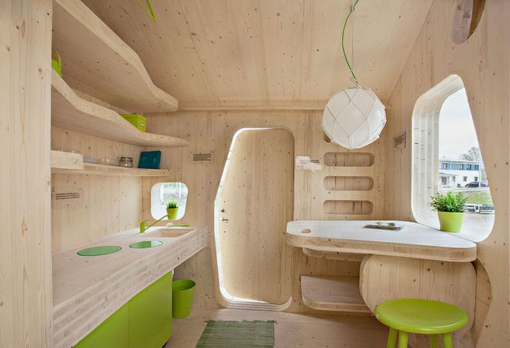 Smart Student Unit by Tengbom Architects.  Love the Nude Pine finish.