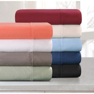Shop for Superior 100-percent Premium Long-staple Combed Cotton 800 Thread Count Solid Deep Pocket Sheet Set. Get free shipping at Overstock.com - Your Online Sheets
