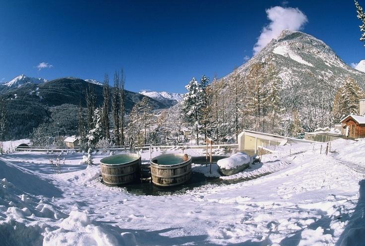 wooden tub at the Spa Bagni Nuovi