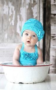 Cute!Photos Ideas,  Swimming Cap, Bath Cap, Baby Girls, Kids, Bath Beautiful, Baby Photography, Baby Photos, Bath Time