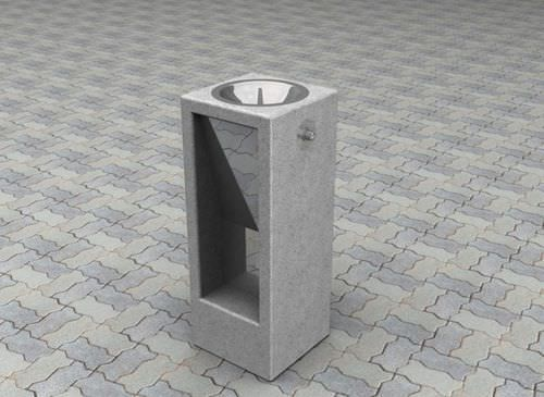 Floor-mounted drinking fountain / outdoor SOLTAS: YPSILON Amop Synergies