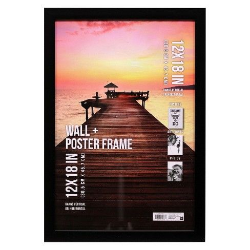 Poster Frame 1 Profile Black 12 X18 Target Wall Poster Frame Poster Frame Photo Frame Wall