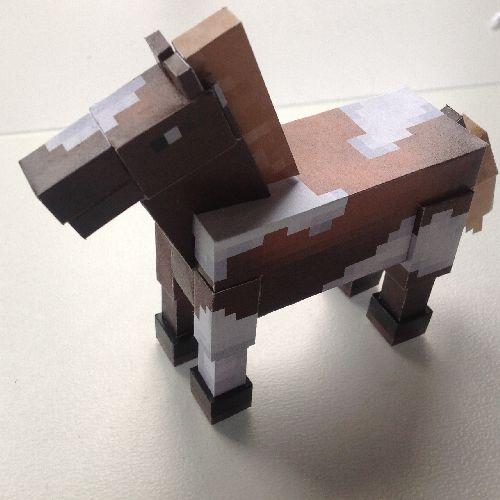 Из бумаги лошадь майнкрафт картинки