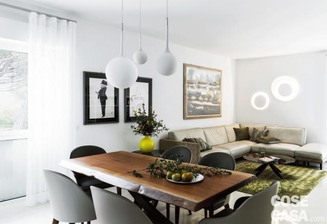 Open Space Con Living Cucina E Pranzo Da Tre Ambienti A Uno Solo Cose Di Casa Idee Per Decorare La Casa Idea Di Decorazione Arredamento