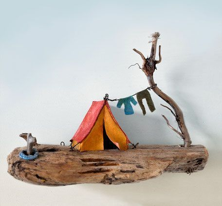 christine grandt treibholz kunst maritim geschenke miniaturen skulpturen …   – Wood