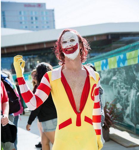 A Sinister Cosplay Mashup of Ronald McDonald & The Joker