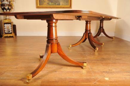 Flame-Mahogany-Regency-Pedestal-Dining-Table-Diner