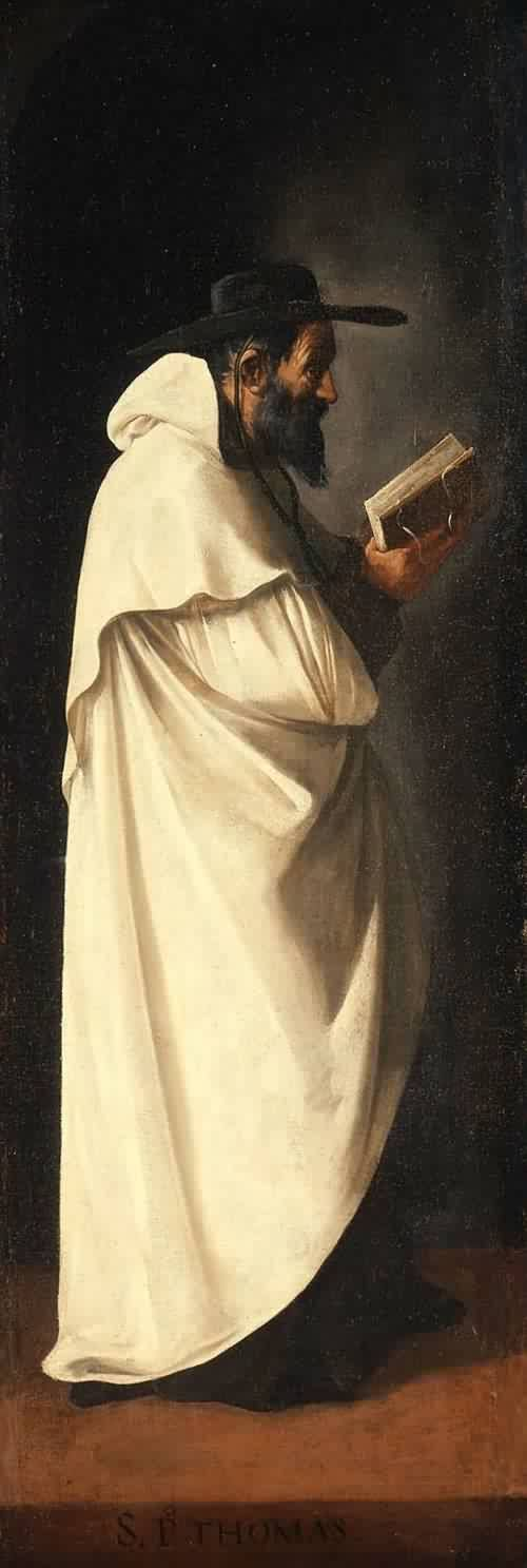 Saint Peter Thomas, 1632. Francisco de Zurbaran () Spanish painter. His Feast Day is 25th January.