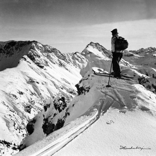 Faszinierende Aufnahmen der Allgäuer Berge im Winter.  Historische Skitouren…