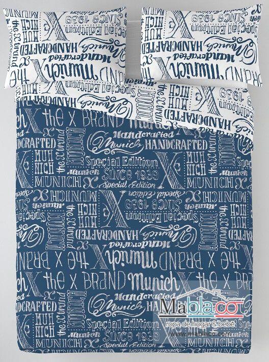 Funda Nórdica Reversible Jet Jeans Munich. ¡Pin it!