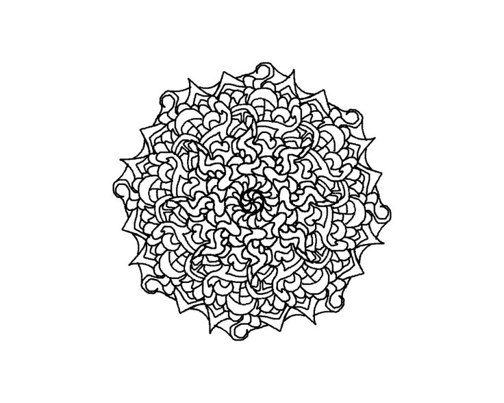 difficult mandala coloring pages - photo#17