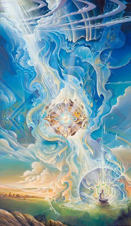 """We are the creatures of the light that will use the light for the benefit of mankind and of the universe."" Visionary Art By: Michael Divine-Ten ThousandVisions"