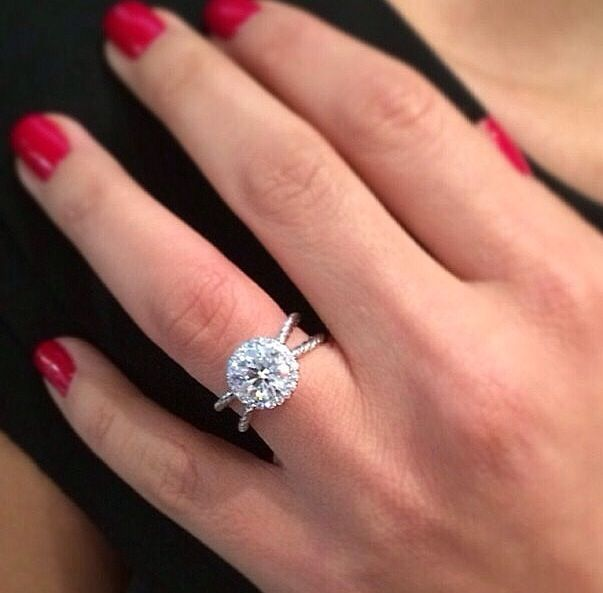 Usually not a fan of David yurman engagement rings but this one really pretty and the band is stunning