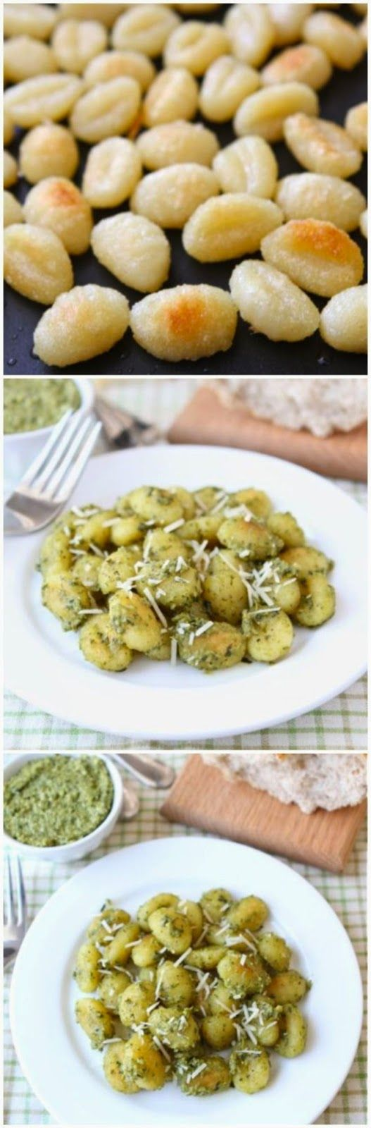 Crispy Gnocchi With Basil Pesto ~ Italian recipes aren't only for pasta and pizza ones (but we surely love them as well) but there's also lots of different dishes.