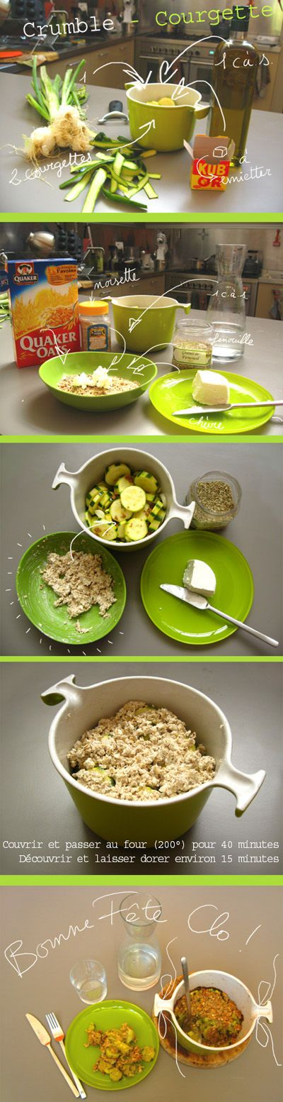 Tambouille» Crumble courgette