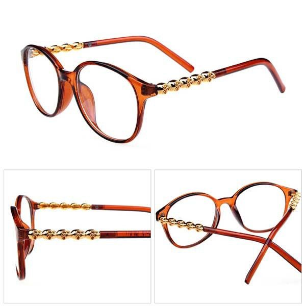 Round Glasses Plain Mirror Skull Frame Punk Eye Glasses Frames For Men Women Eye Glasses
