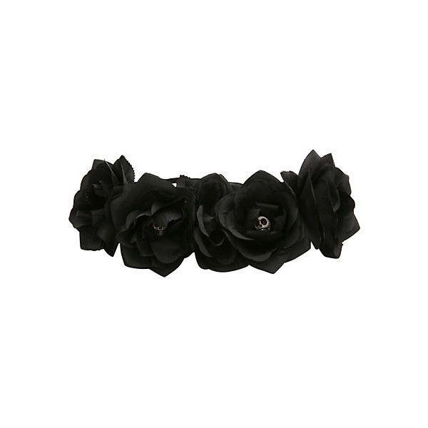 Black Flower Crown Gothic Flower Crown Black Flower: 43 Best Images About Bows, Headbands, And Flower Crowns On