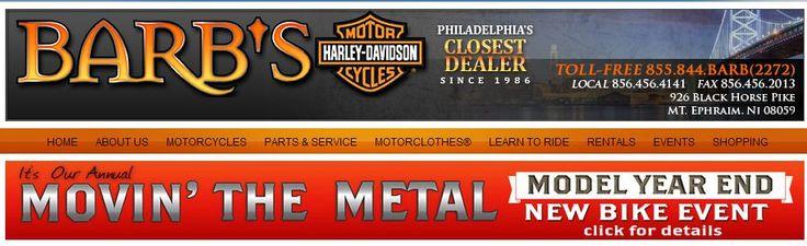 Barb's has won six Harley-Davidson Bar & Shield Awards, a Harley-Davidson Credit Eastern Dealer of The Year Award, a Top V-Rod Sales Award and several community awards. http://www.barbshd.com.