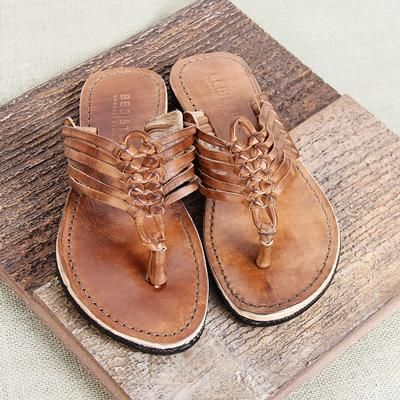 Bed Stu Riley Tan Leather Sandal from D&D Texas Outfitters / Bohemian Cowgirl Summer Style