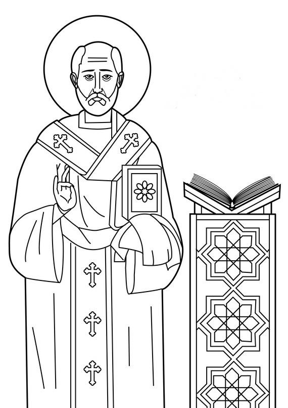 catholic saint coloring page