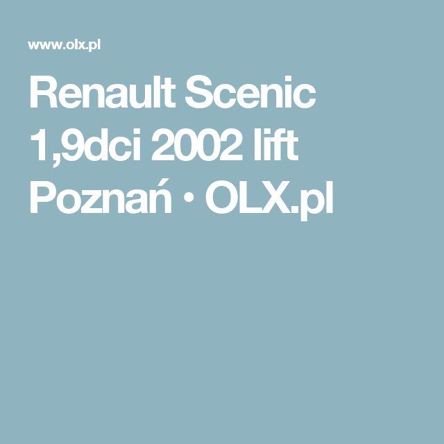 Renault Scenic 1,9dci 2002 lift Poznań  • OLX.pl