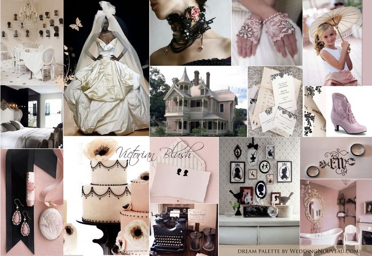 Moodboard victorian wedding- not a fan of pink really but i love love love!