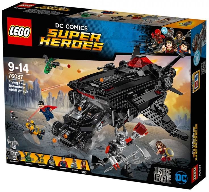 LEGO DC Comics Super Heroes 76087 : Flying Fox : Batmobile Airlift Attack - Août 2017