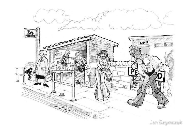 The Bus Stand Pegswood by Jan Szymczuk