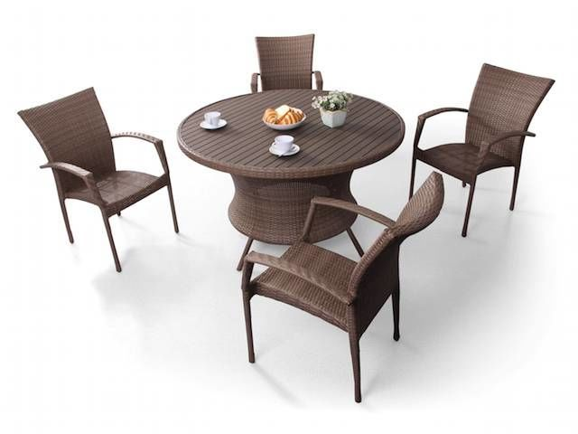 Biscayne 5 Pc All Weather Wicker Dining Set Fortunoff Backyard Store Wicker Dining Set Furniture Outdoor Furniture Sets