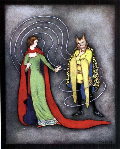 Beauty and the Beast by Jennie Harbour, 1921.  (Raphael Tuck and Sons,  My Favourite Fairy Tales.