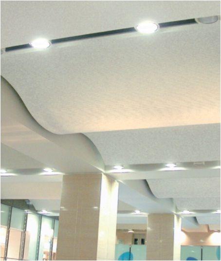 Plafones con dise o curvo para innovar en la manera en la - Plafones de pared ...