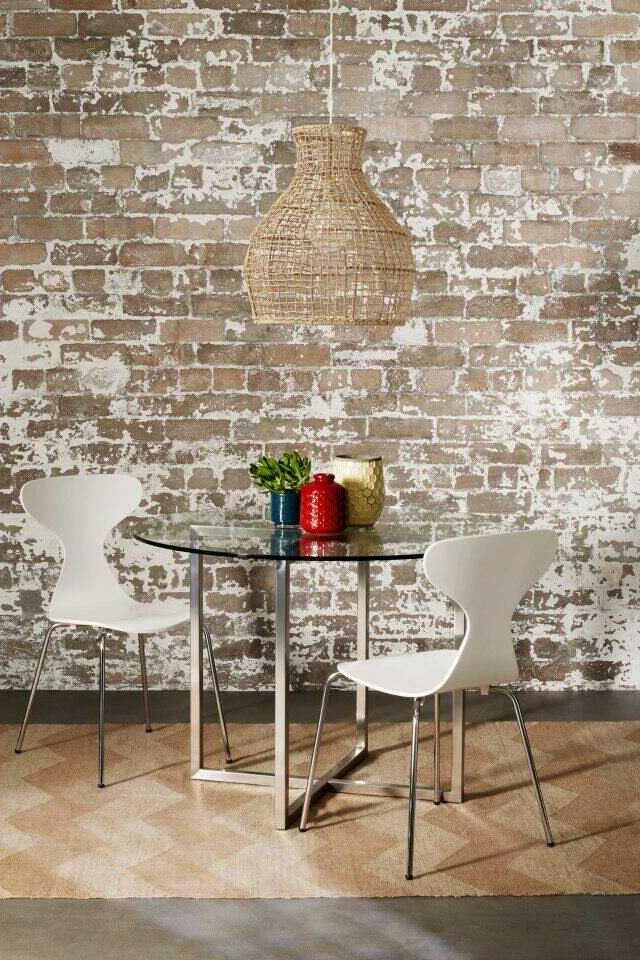 25 best painted brick walls ideas on pinterest painted for Distressed brick wall mural