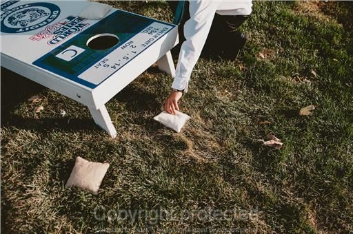 custom Detroit Tigers corn hole game from Etsy. game for wedding cocktail hour