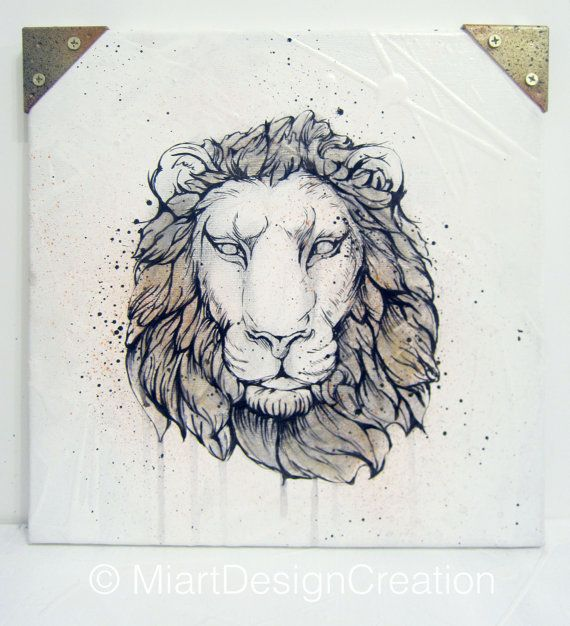 Original hand painting Dear Hunter Lion on by MiartDesignCreation