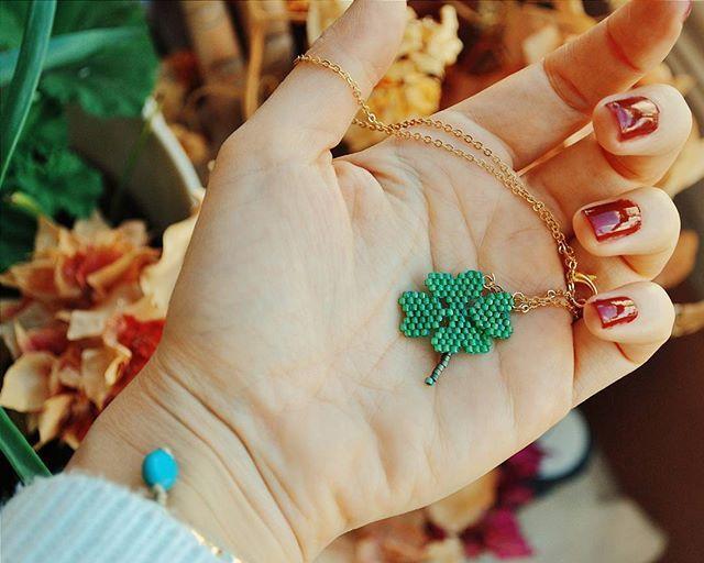 Lucky day🍀🍀#sanart #sanartjewelry #handmade #miyuki #jewelry #jewelrygram #design #tasarim #art #artist #luck #instajewelry #latergram #autumn #igersoftheday #happyday #necklace #ojesizgezmeyenlerkulubu #vscostyle #vsco #vscoart #catsofinstagram #vscocam #instajewelry #photooftheday #fashioninsta #fashion #style #instatalent #instagood