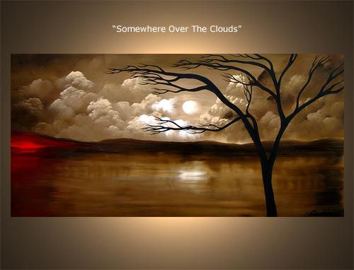 Landscape Painting - Somewhere Over the Clouds #3097 by Osnat