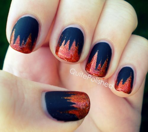 Nail Polish Games For Girls Do Your Own Nail Art Designs: 46 Best Images About Hunger Games Nail Art On Pinterest