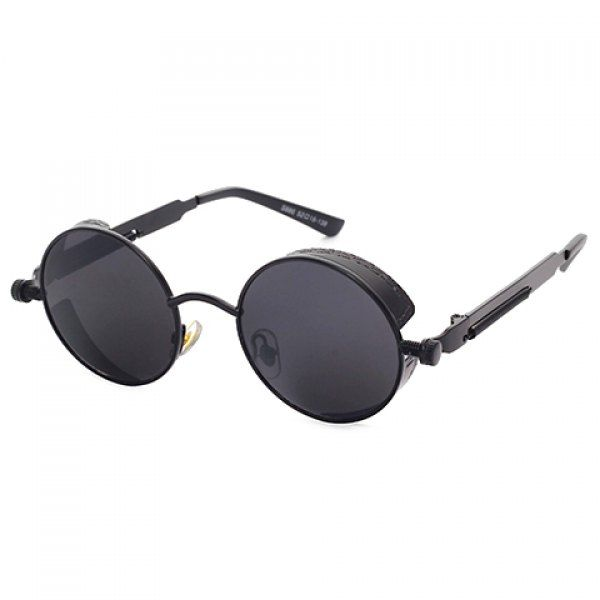 Chic Black Round Frame Women's Retro Sunglasses #men, #hats, #watches, #belts, #fashion, #style
