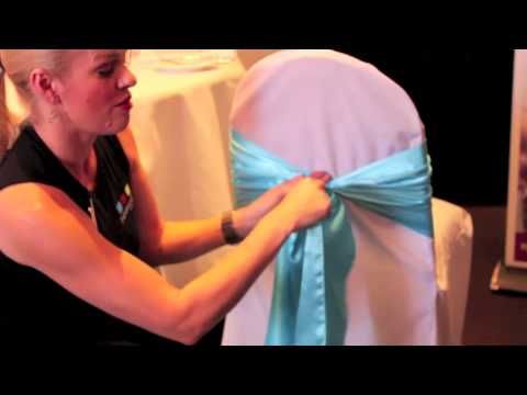 ▶ How to tie a Bow on a chair - YouTube. Can use for flower girl dress