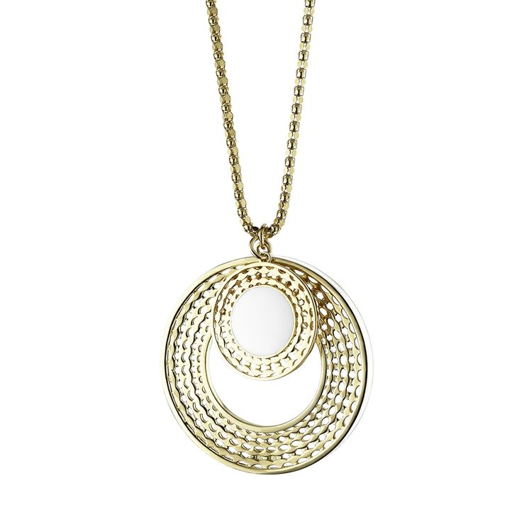 Oxettissimo White Necklace - Available here http://www.oxette.gr/kosmimata/kolie/stainless-steel-rosegold-plated-wh-necklace-oxette682l-1/ #oxette #OXETTEnecklace #jewellery