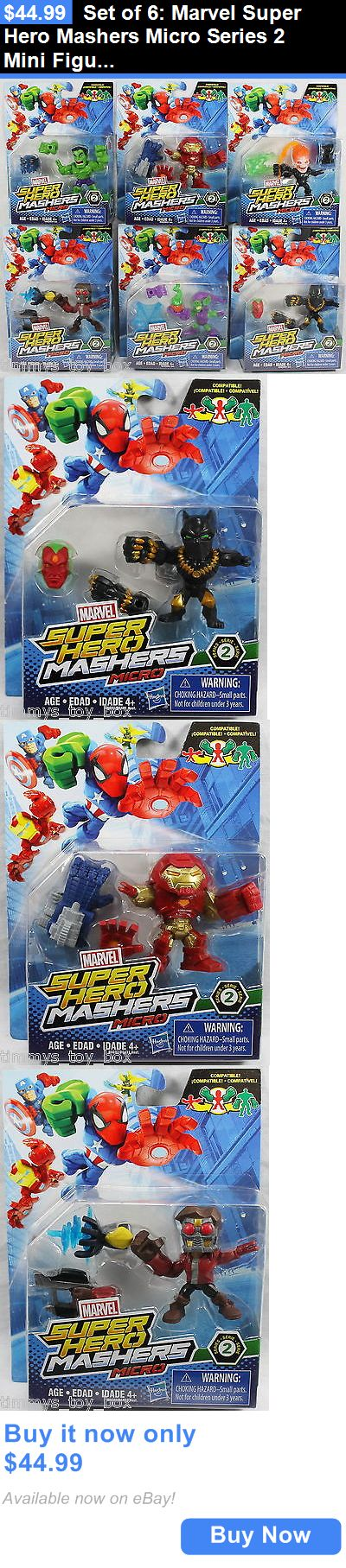 Toys And Games: Set Of 6: Marvel Super Hero Mashers Micro Series 2 Mini Figures BUY IT NOW ONLY: $44.99 #priceabateToysAndGames OR #priceabate