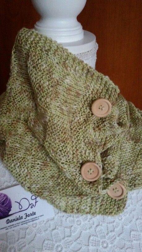 Scaldacollo / foulard in cotone con filato unico perché realizzato con filati uniti al momento