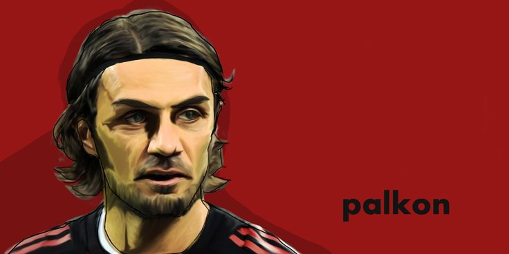 Maldini #soccer #legend #acmilan #Milano #Digital #Digitalpainting # Digital Drawing #wacon #Intuos