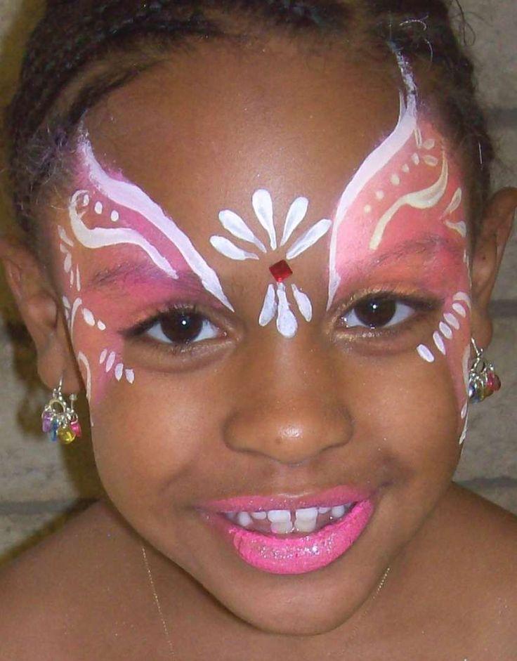 Trucco viso di Carnevale per bambini - Principessa rosa