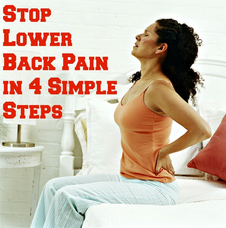 Stop Lower Back Pain in 4 Simple Steps