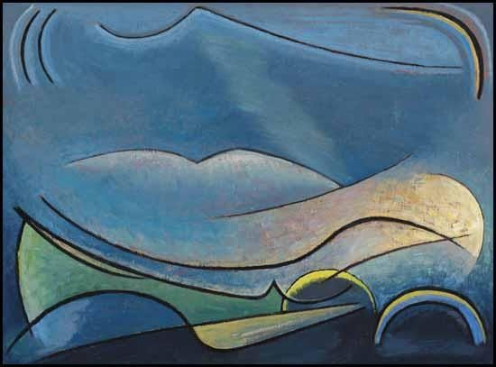 """Lawren Harris: """"The Spirit of Remote Hills""""--Member along with Emily Carr of the Group of 7...."""