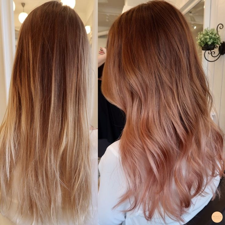 Rosé ombre before & after