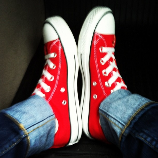 Red Chucks! #converse