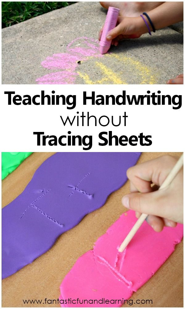 Teaching Handwriting without Tracing Sheets